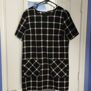 Forever 21 black checkerboard print dress